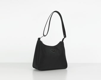 d70888d240dd77 Vintage / Prada inspired bag / statement bag / 90's nylon bag / Small  handbag / small bag / clutch / shoulder bag