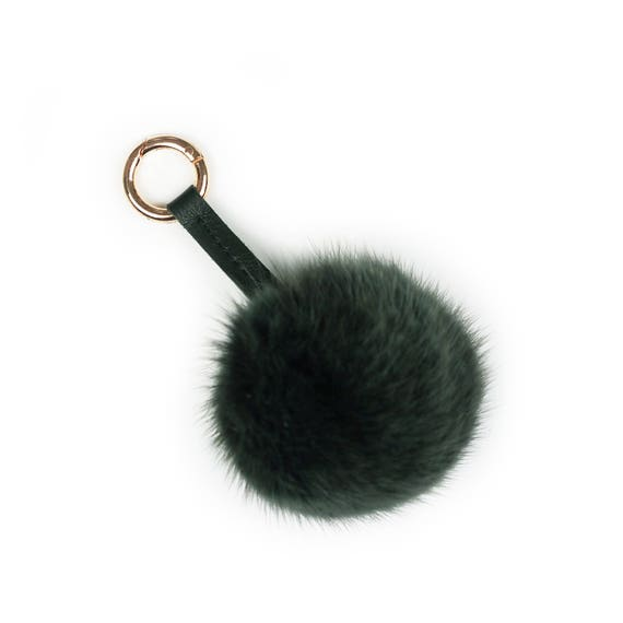 Upcycled fur pom pom   keychain   bag charm made from  0d7c3a7037c7b