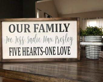 Our Family Wood Sign