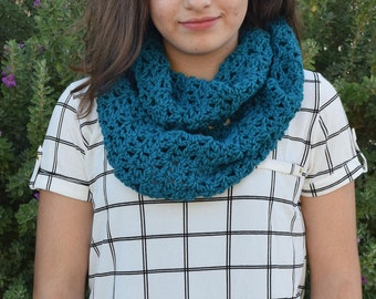 Teal Valerie Infinity Scarf   Infinity Scarf  Circle Scarf  Winter Wear Snood  Gift for Her  Ladies Fashion  Womens Scarves Long scarf