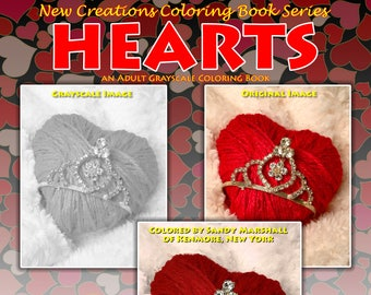 New Creations Coloring Book Series:  HEARTS