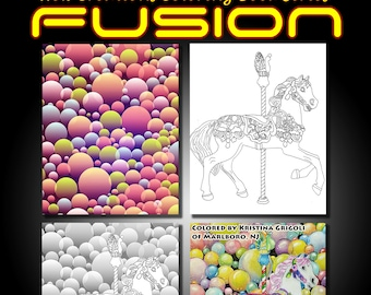 New Creations Coloring Book Series: FUSION