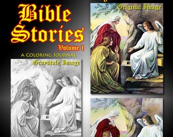 New Creations Coloring Book Series: BIBLE STORIES VOL 1