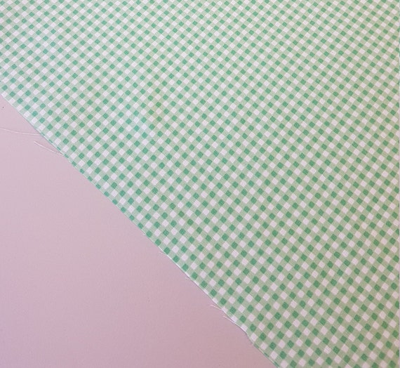 100/% Cotton Fabric CHECK GINGHAM PINK Rose /& Hubble Material METRE FAT QUARTER