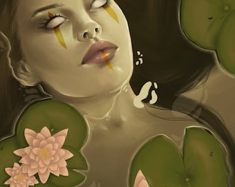 Art Print- Death of the Lake.