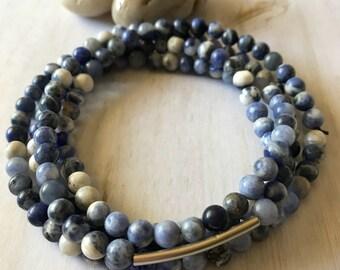 Sodalite Gemstone Necklace