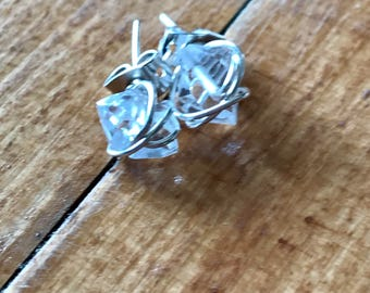 Herkimer Diamond Stud Earrings   Crystal Earrings