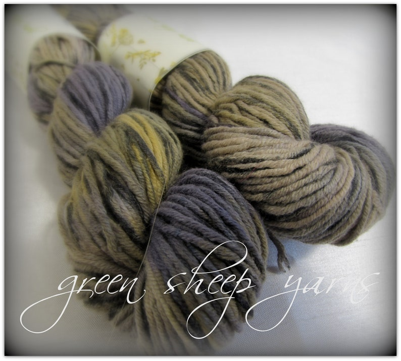 Urban Sunrise * Hand dyed yarn/ Cotton/ Recycled yarn/ Knitting yarn/ Yarn  skein (50g/ 126yds) * Laine Teint a la main