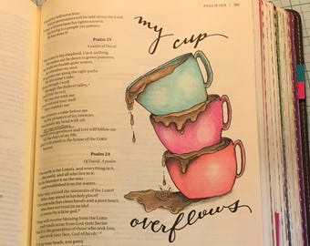 Bible journaling printable, psalm 23