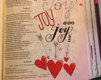 Bible journaling printable, joy printable