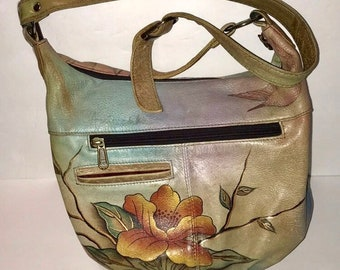 3fcf2cf1822 Anuschka Hand Painted Shoulder Bag