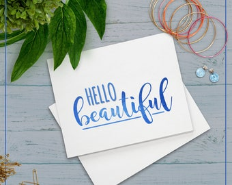 "Card ""Hello Beautiful"""