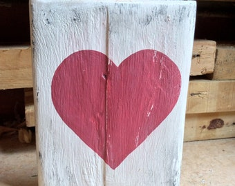 PALLET HEART Home Decor Heart Sign Rustic Wedding