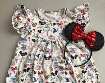 Girls' Disney World Pearl Dress