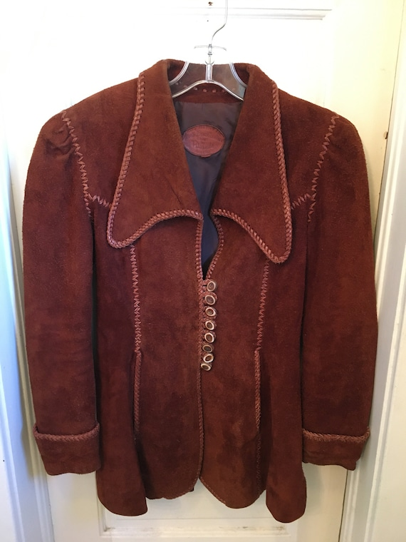 Vintage 1970s Women's North Beach Leather jacket S