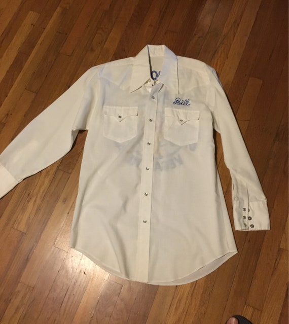 1970s embroidered elks club western snap shirt - image 2