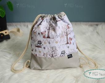 Personalized kids backpack   waterproof back to school bag   pe bag   gymnastic bag   swim bag   sports bag   Embroidered Drawstring Bag