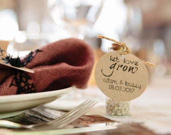 Let Love Grow - Wedding Favor / Bonbonniere - Wedding gift - Gift