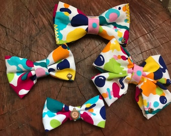 Paint Splatter Bows
