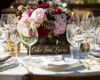 Table Signs | Table Numbers | Wedding Table Names