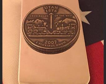 Utah State Quarter Money Clip