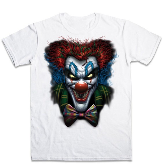 Halloween Scary Clown T Shirt Etsy