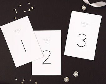 Modern Table Numbers 1-40 | Printable Wedding Table Numbers | Instant Download | Digital Download Wedding Table Numbers