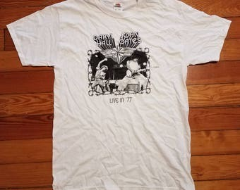 Hall and Oates Live in 77 Silkscreened Shirt