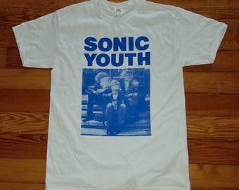Sonic Youth Silkscreened Shirt (White)