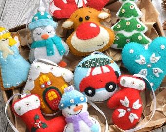 Etsy Christmas Ornaments.Felt Christmas Ornaments Etsy