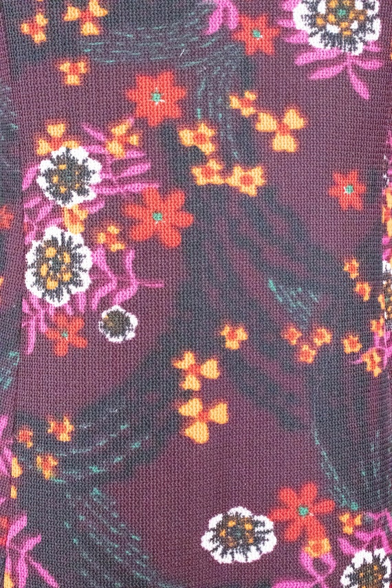 Vintage Floral Mini Dress / Leg of Mutton Sleeves… - image 2