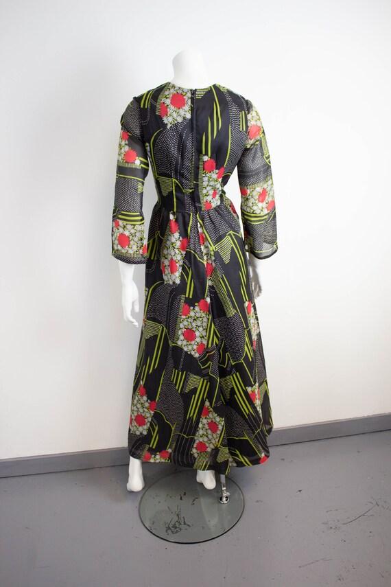 Vintage 70s Floral Maxi Dress / Size 12 / EU 40 /… - image 6
