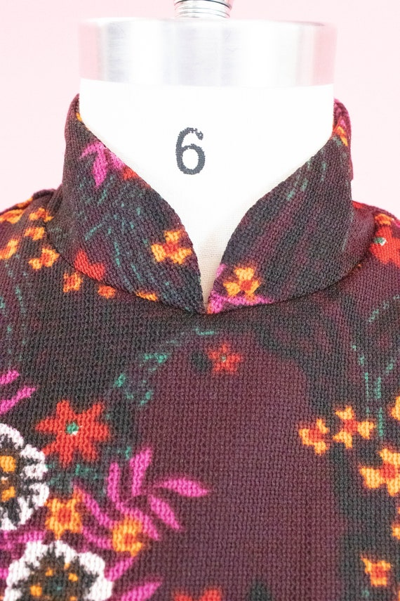 Vintage Floral Mini Dress / Leg of Mutton Sleeves… - image 5