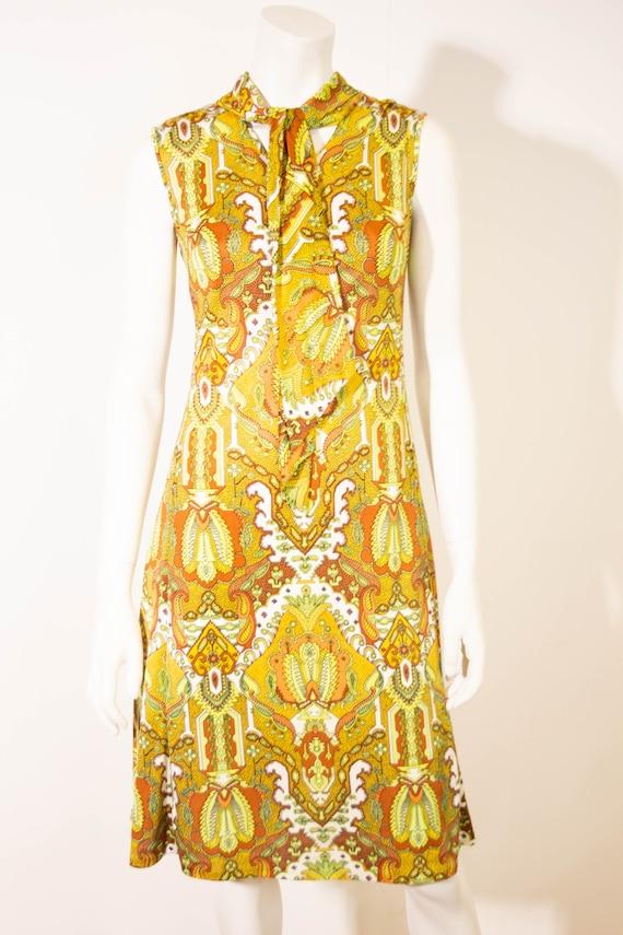Vintage Tissus Leonard Paris Dress / J Leonard et
