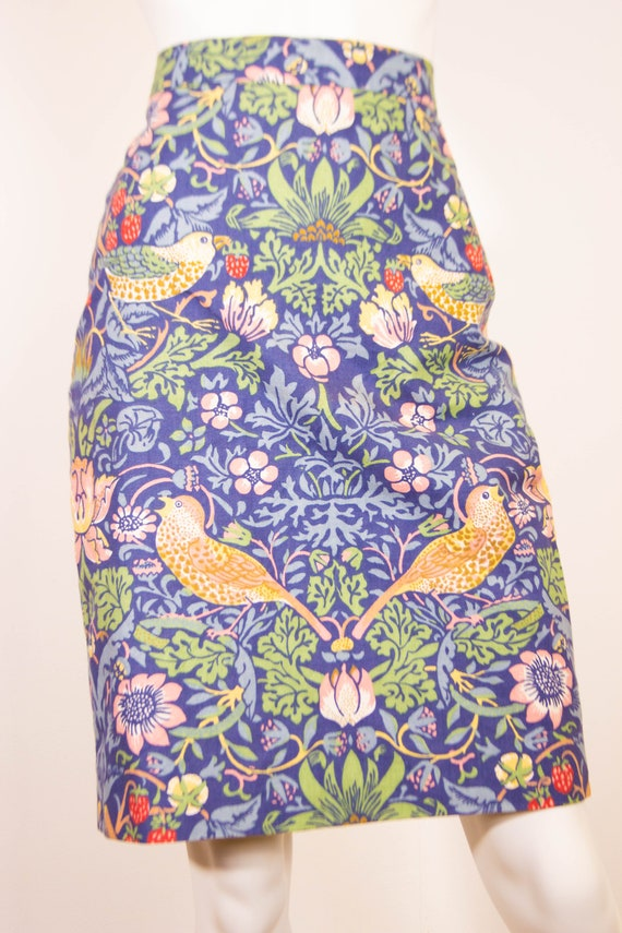 Vintage William Morris Pencil Skirt / Strawberry T