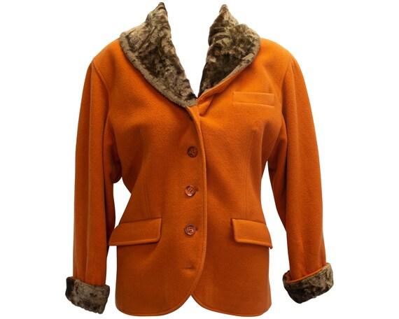 Vintage Orange Kenzo Jacket / 1980s / 80s / Orange