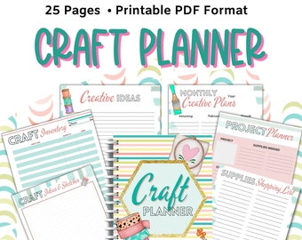 Craft Planner, Craft Project Printable, Craft Organization Binder, Project Tracker, Hobby Planner, Crafters Printables, Sewing Organizer