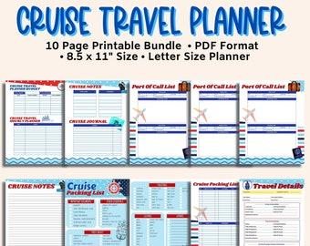Printable Cruise Planner, Travel Planner, Cruise Planning Bundle, Travel Journal, Cruise Journal, Disney Cruise, Cruise Planning Bundle