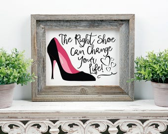 Disney The Right Shoe Cinderella Printable Wall Art, Fashion Sketch, high heels print