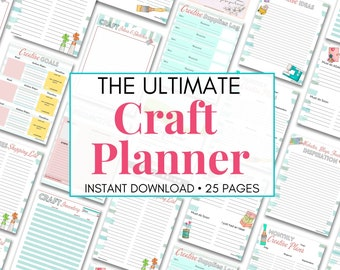 Craft Organization Binder, Craft Planner, Craft Project Printable, Project Tracker, Hobby Planner, Crafters Printables, Sewing Organizer