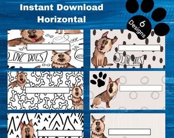 Custom Dog Name Cash Envelope