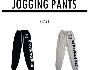 Mens Personalised Jogging Pants | Customised Joggers | Men's Custom Bottoms