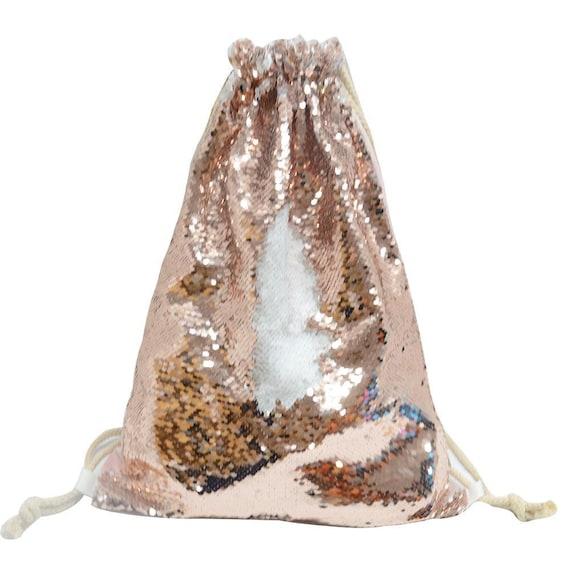 Personalised Sequin Drawstring BagReversible Sequin BagCustomised Bags