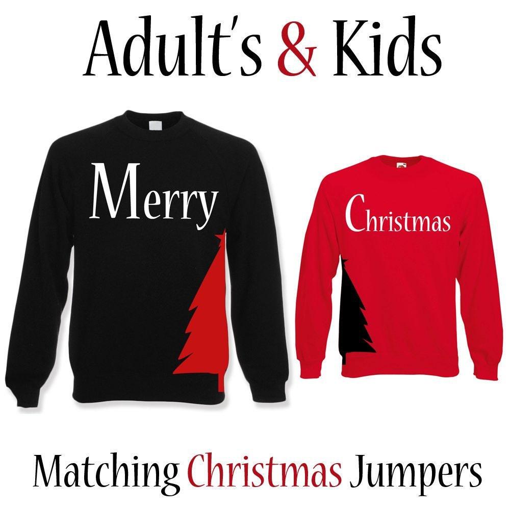 Adultes & enfants assorties pulls pulls pulls d'entraînement Noël | Pull de Noël | Mignon de Noël adulte unisexe JumperChristmas cadeau pour enfants 6e71ec