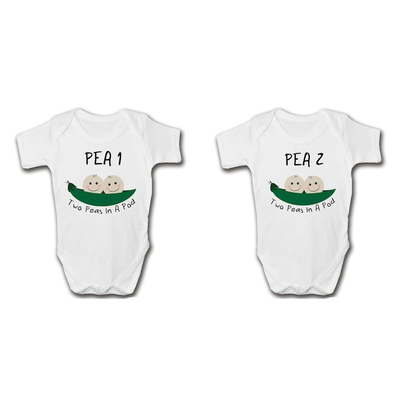 f1eb787a86840 Two Peas In A Pod Twins Newborn Gift Set Baby Grows Cool | Etsy