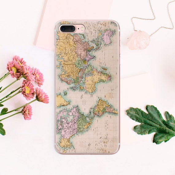 World Map iPhone 8 Case SE Phone Cover iPhone X Phone iPhone Case 6 on map tattoos, map pens, map diy projects,