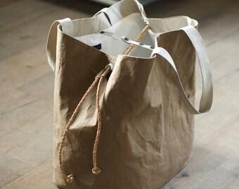 b02348140a714 Washpapa Brown torba XXL | Bardzo duża torba na ramię | Torba Shopper |  Torba na papier Eco | Torba Unisex