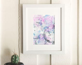 Original Abstract Bubbles Watercolor Painting