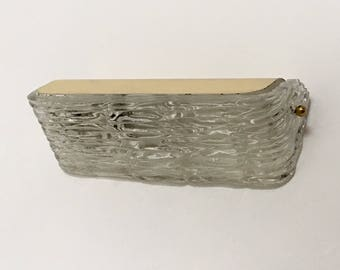 Paire d appliques anciennes style murano bras verre torsadé