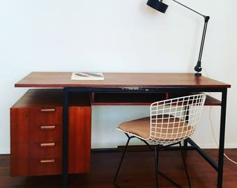 Architect Desk | Attr. Herbert Hirche For Holzäpfl | 1950s | Bauhaus |  Teakwood | Freestanding |